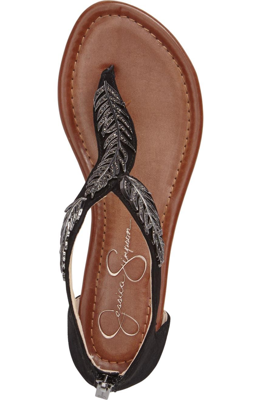 Sandal Feather Sandal Embellished Embellished Feather Feather Kalie Kalie Kalie Embellished Sandal dBerxCoW
