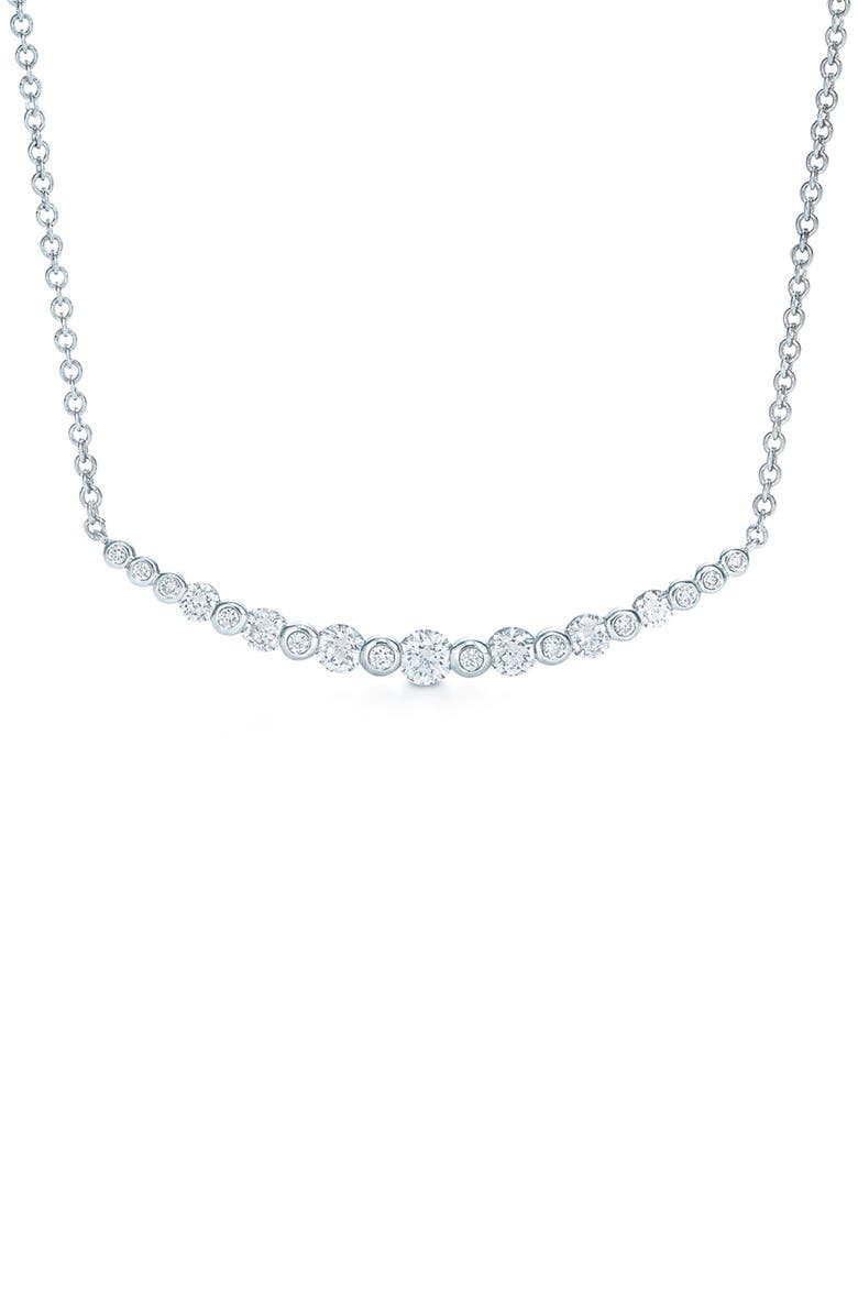 KWIAT Starry Night Curved Bar Diamond Necklace, Main, color, 711