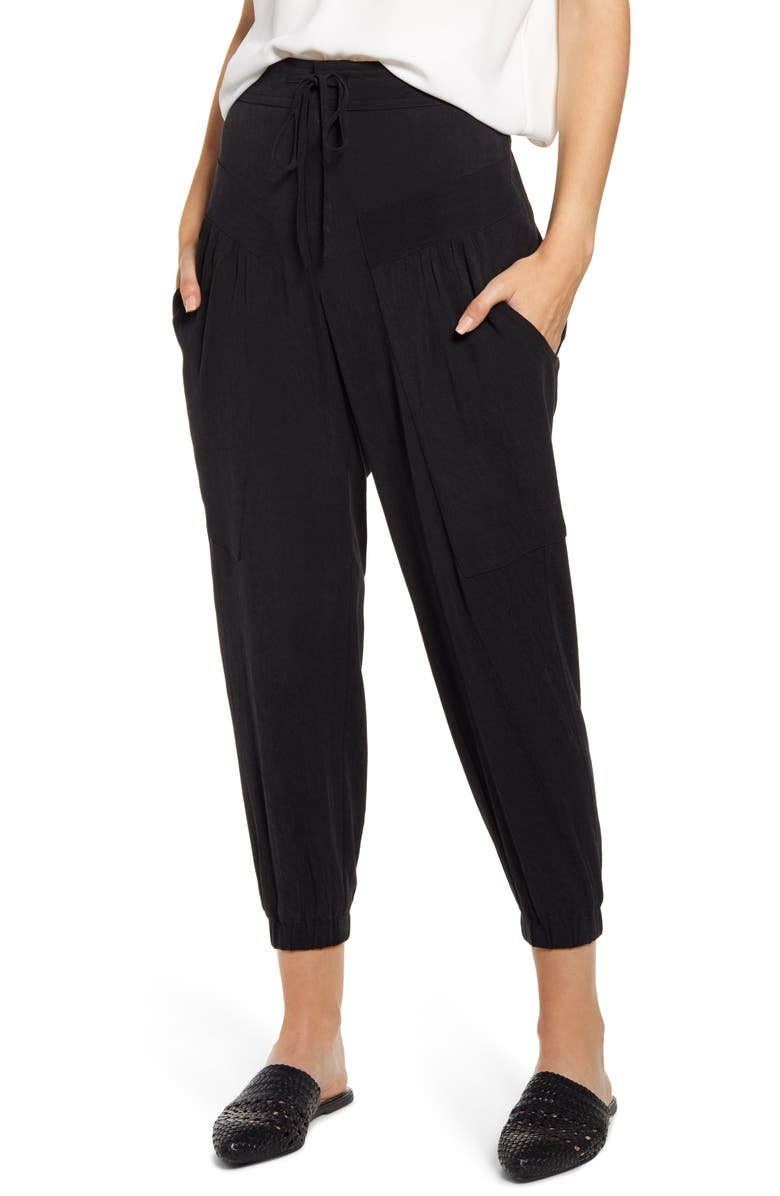 THE ODELLS Marceau Slouch Pants, Main, color, NOIR