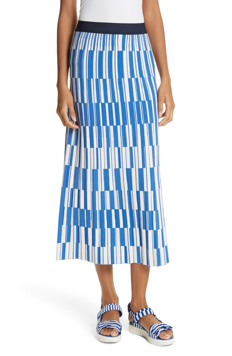 9543cd257 Tory Sport Motley Check Pleated Tech Knit Skirt | Nordstrom