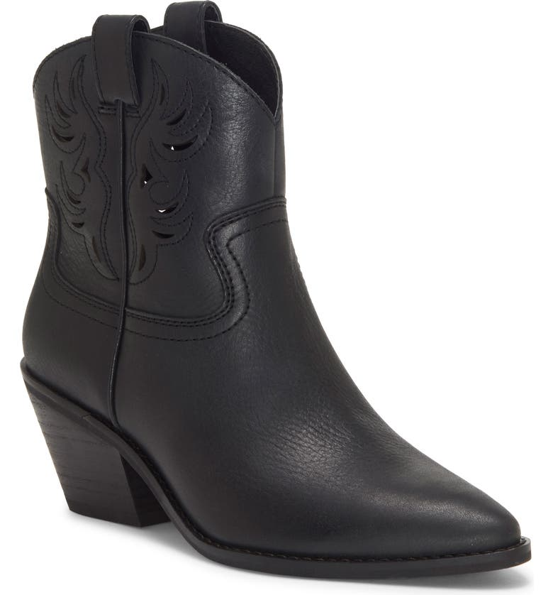 LUCKY BRAND Talouse Western Boot, Main, color, BLACK LEATHER