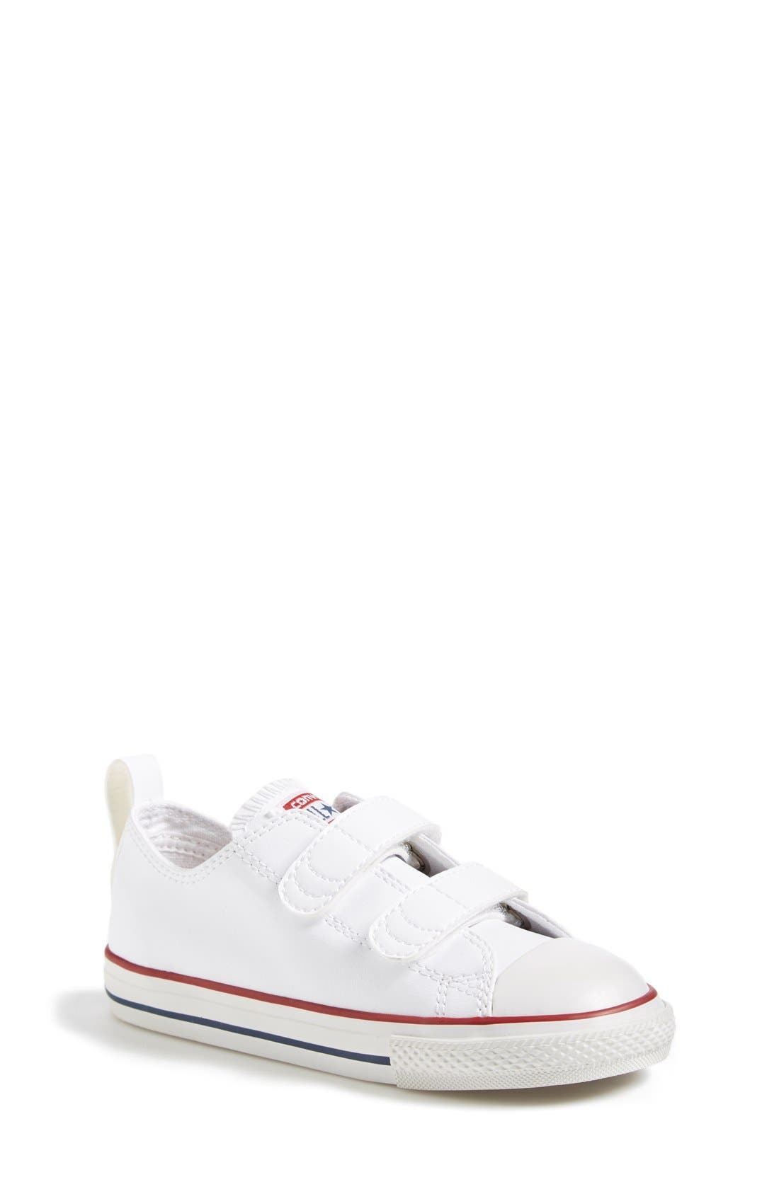 ,                             Chuck Taylor<sup>®</sup> All Star<sup>®</sup> 2V Faux Leather Sneaker,                             Main thumbnail 1, color,                             WHITE
