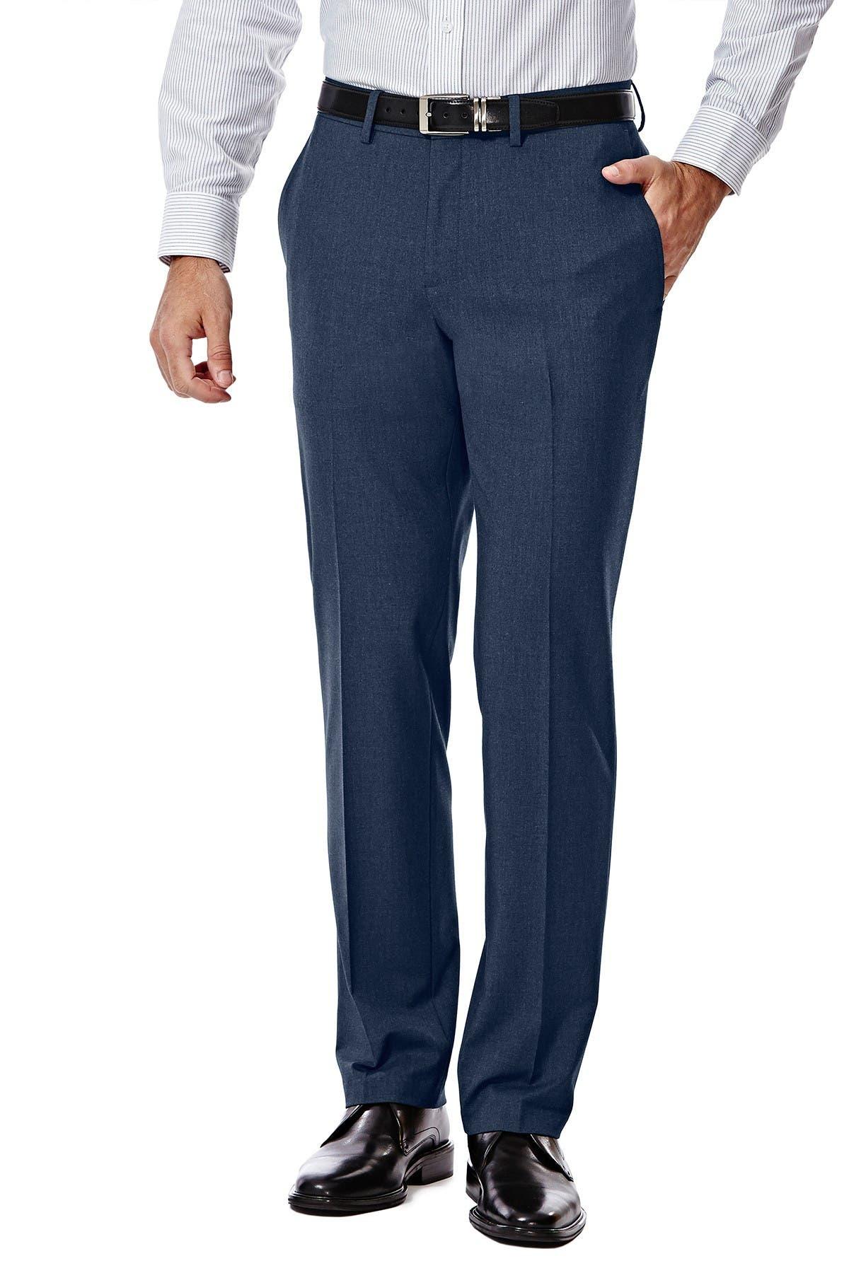 "Image of HAGGAR Gabardine 4-Way Stretch Slim Fit Suit Separate Pants - 30-34"" Inseam"