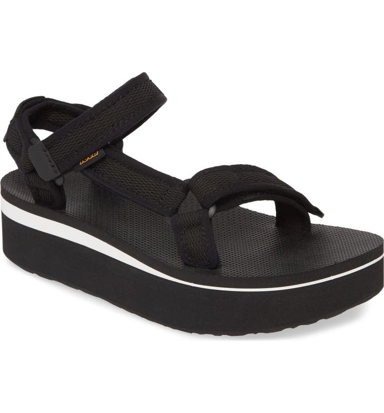 TEVA Flatform Universal Sandal, Main, color, BLACK FABRIC