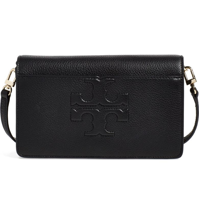 2ebaa75f1 Tory Burch 'Small Bombe T' Leather Convertible Crossbody Bag | Nordstrom