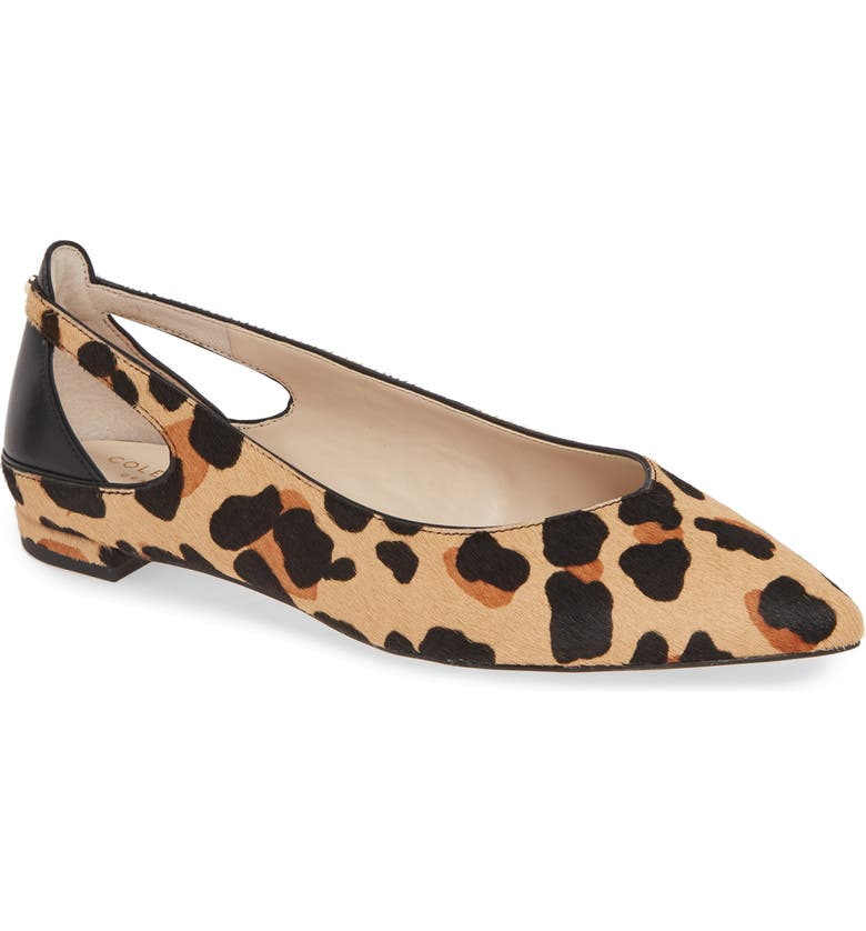 Ramsey Genuine Calf Hair Flat, Main, color, JAGUAR PRINT CALF HAIR