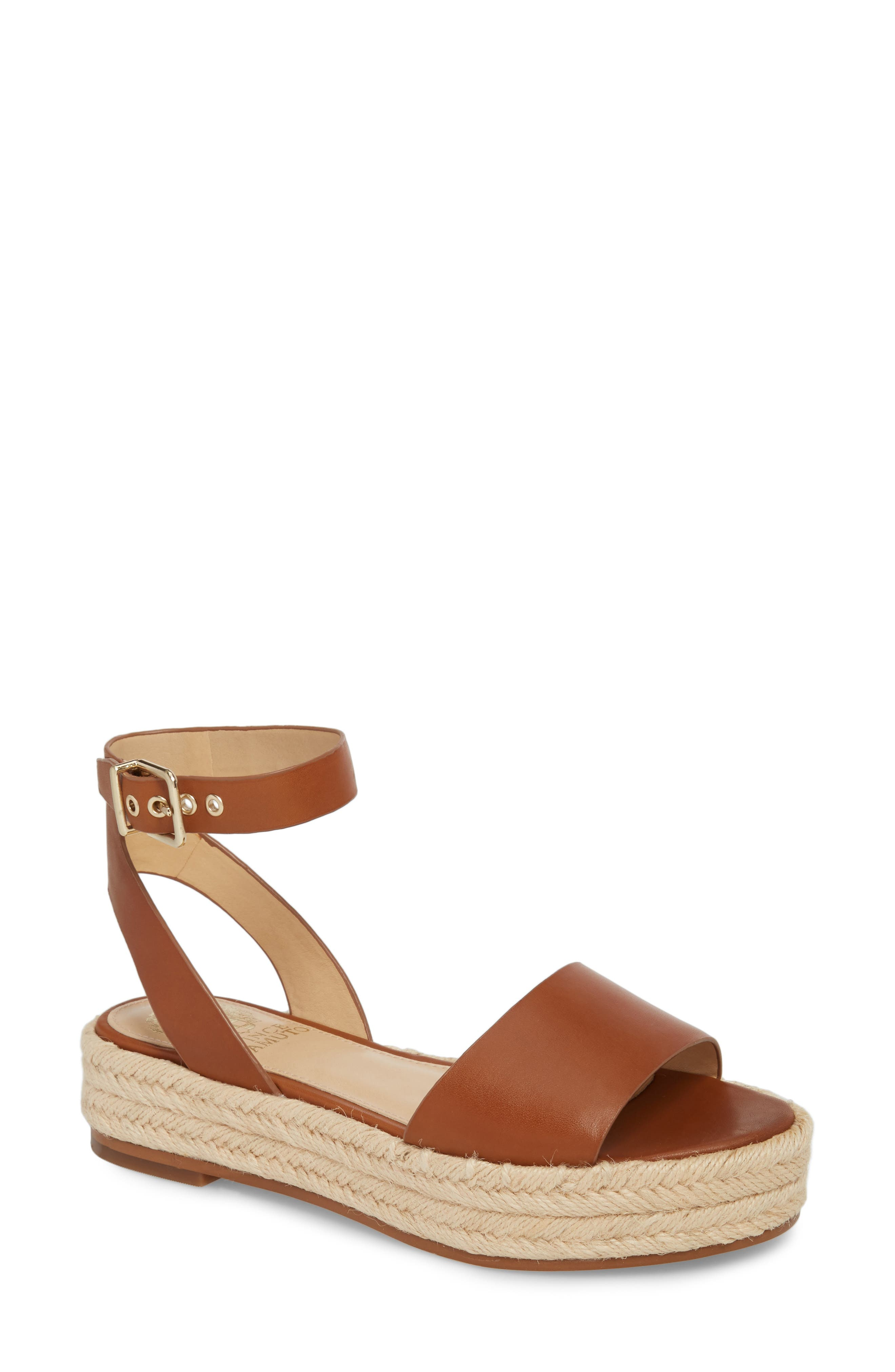 Kathalia Platform Sandal, Main, color, SUMMER COGNAC LEATHER
