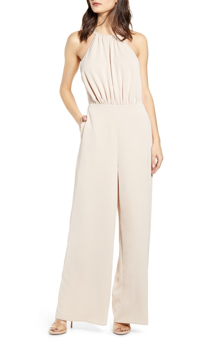 ENDLESS ROSE Halter Jumpsuit, Main, color, 250