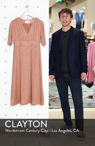 Gala Foil Print Midi Dress, sales video thumbnail