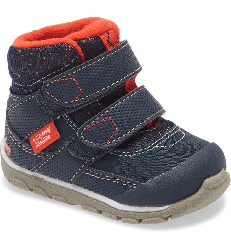 SEE KAI RUN Atlas II Waterproof Insulated Boot, Main, color, NAVY/ RED