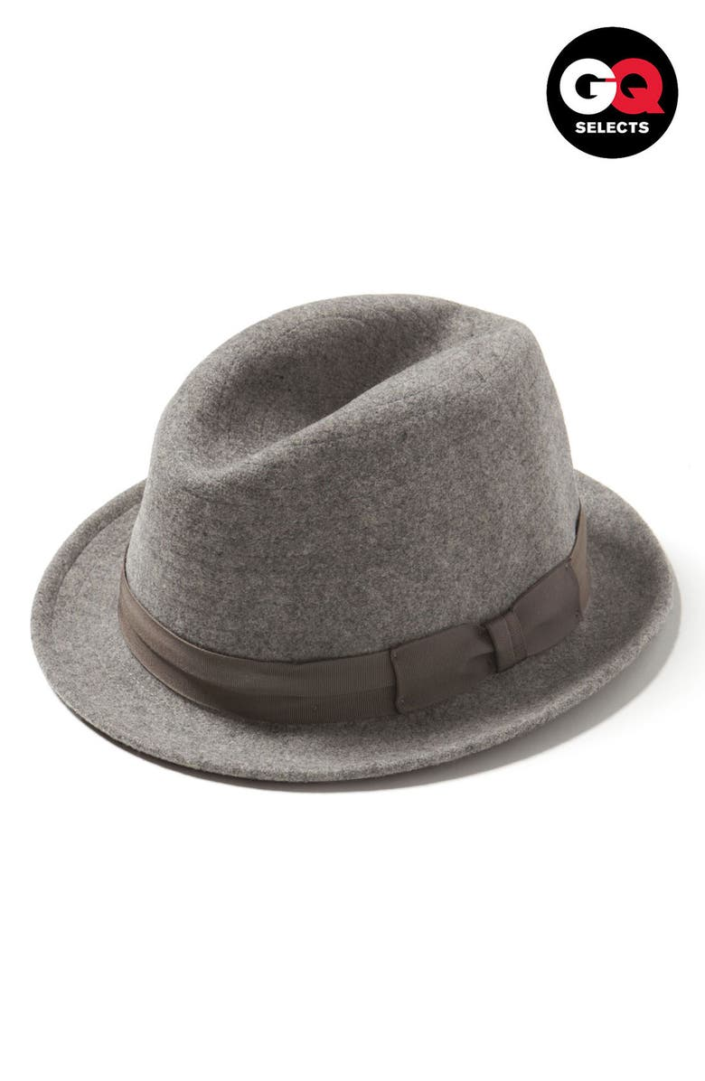 STEVEN ALAN Crushable Wool Fedora, Main, color, 052