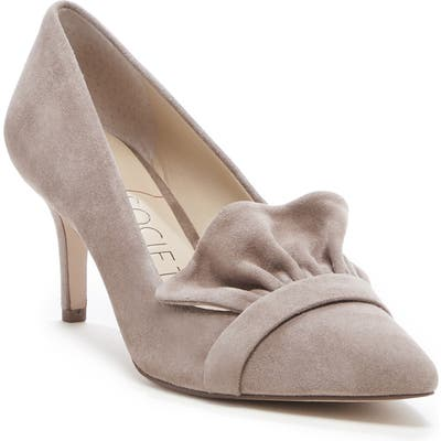 Sole Society Darbia Ruffle Pointy Toe Pump- Brown