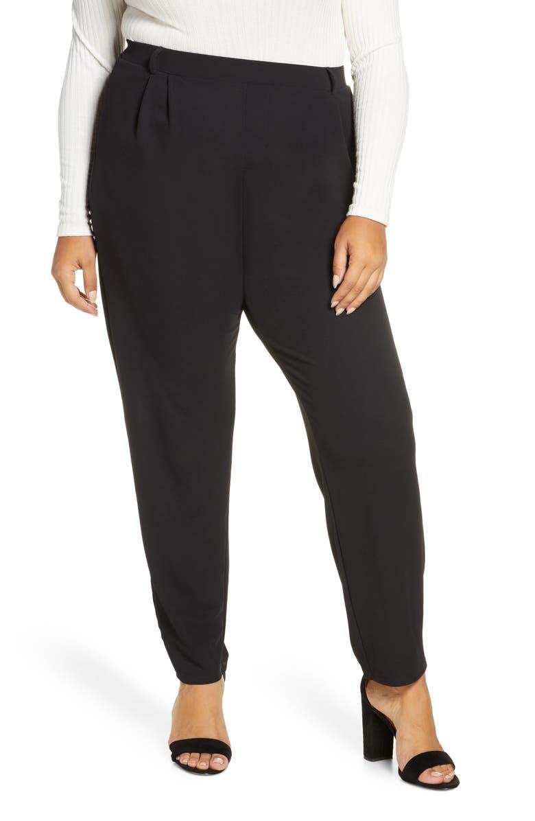 LEOTA Tara Pants, Main, color, MOSS CREPE BLACK