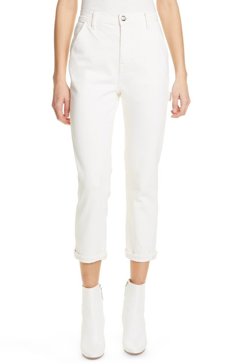 FRAME Carpenter Crop Straight Leg Jeans, Main, color, 900