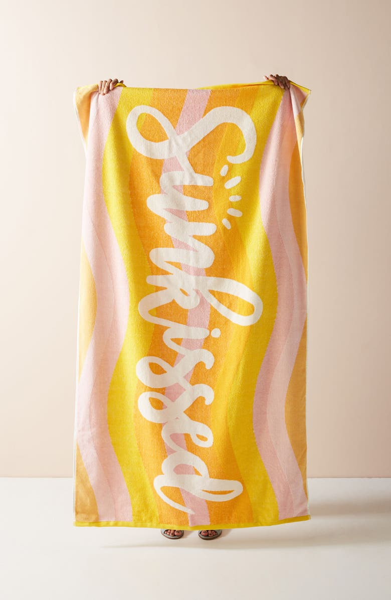 ANTHROPOLOGIE Sunkissed Beach Towel, Main, color, 700