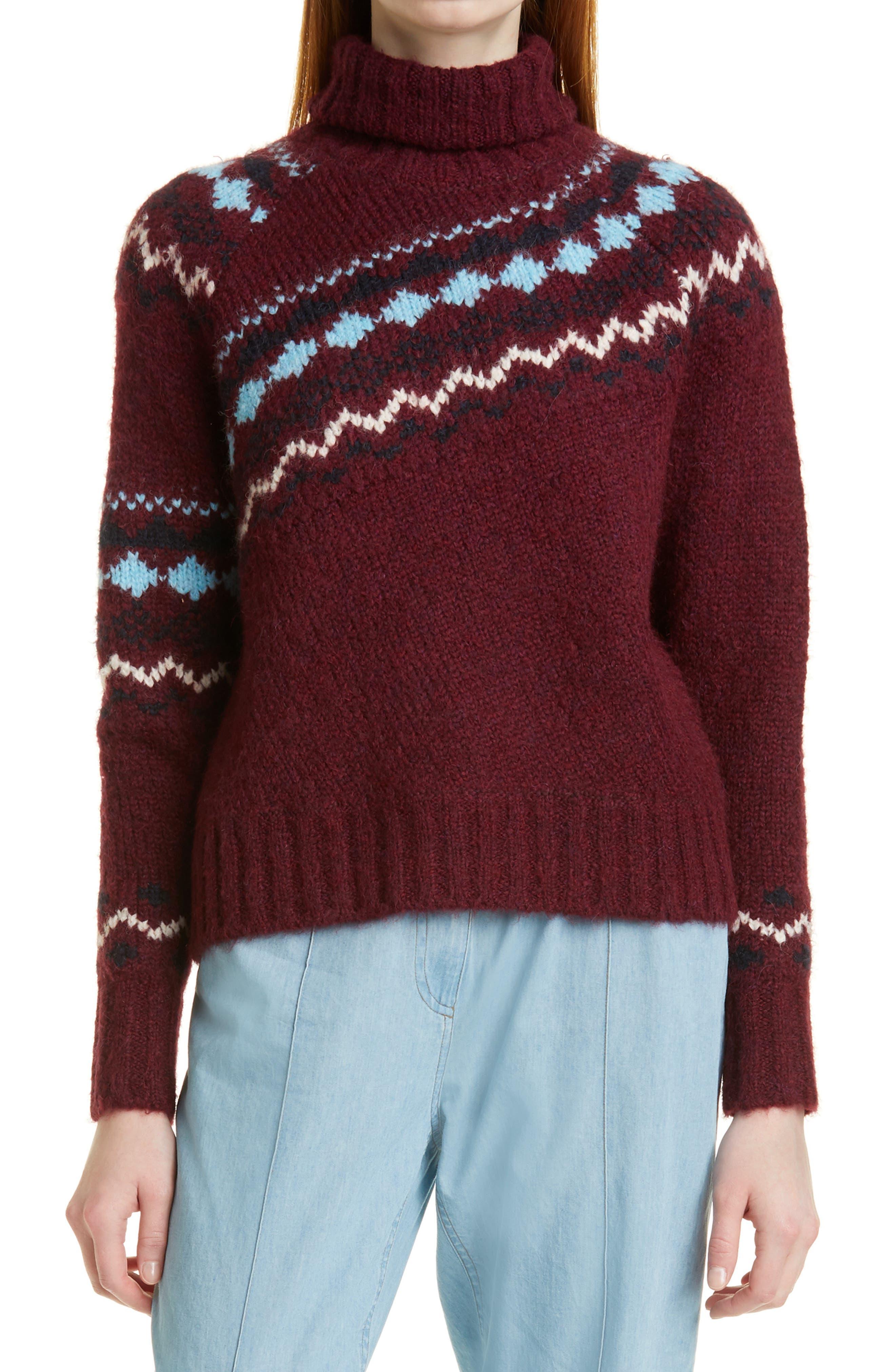 Grammer Fair Isle Alpaca Blend Turtleneck Sweater