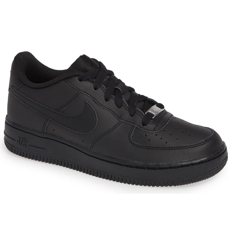 NIKE Air Force 1 Sneaker, Main, color, BLACK/ BLACK/ BLACK