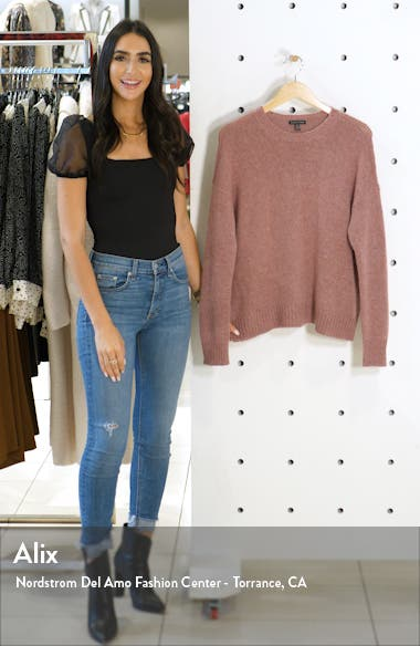Wool & Mohair Blend Crewneck Sweater, sales video thumbnail