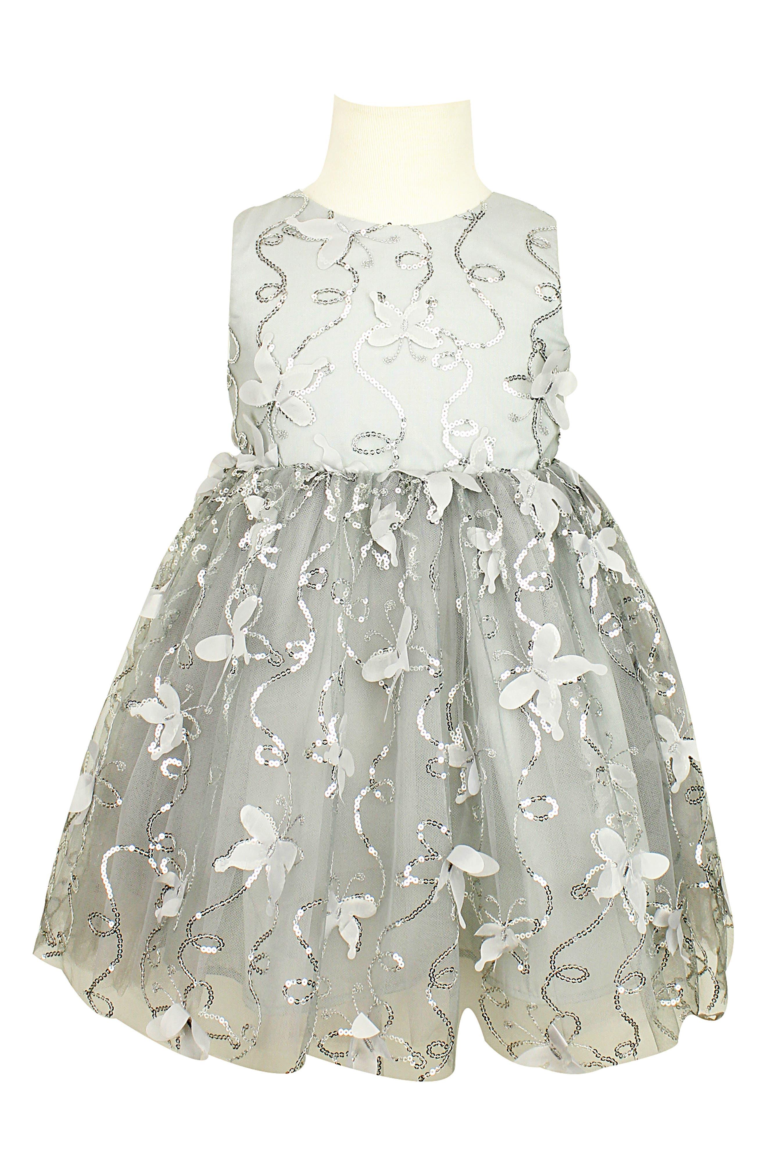 Image of Popatu Floral Applique Tulle Dress