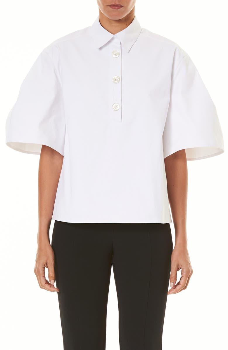 CAROLINA HERRERA Full Sleeve Poplin Shirt, Main, color, WHITE