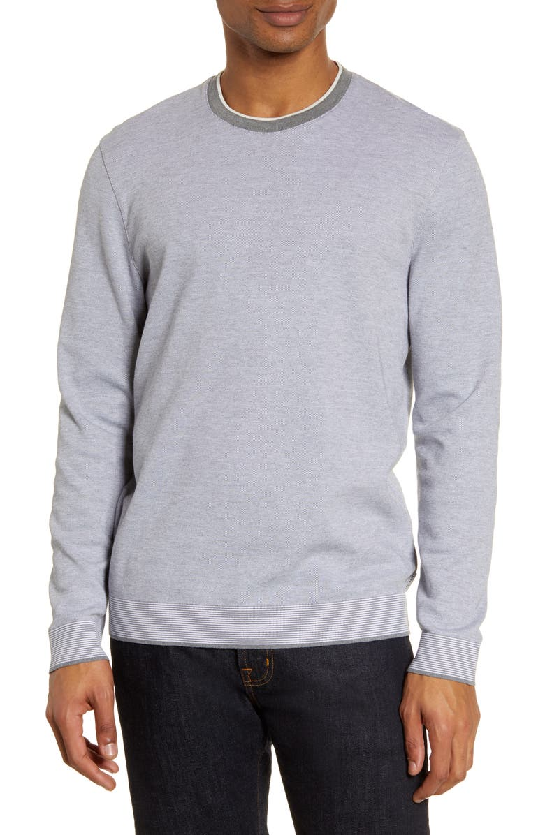 TED BAKER LONDON Carriage Slim Fit Sweater, Main, color, GREY MARL