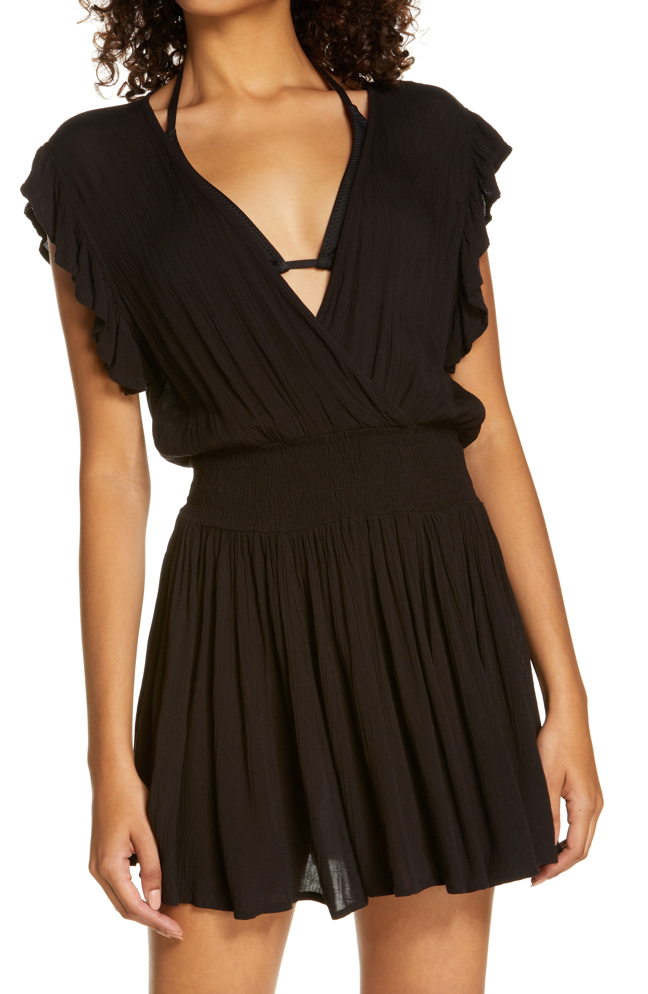 Smocked Cover-Up Dress