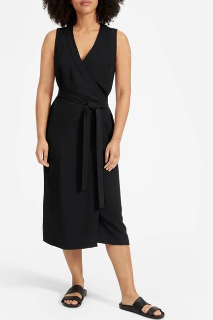 Image of EVERLANE The Japanese Goweave Sleeveless Wrap Dress