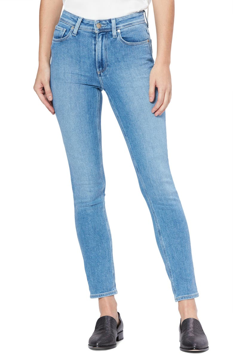 PAIGE Vintage - Hoxton High Waist Straight Leg Jeans, Main, color, HOT TODDY