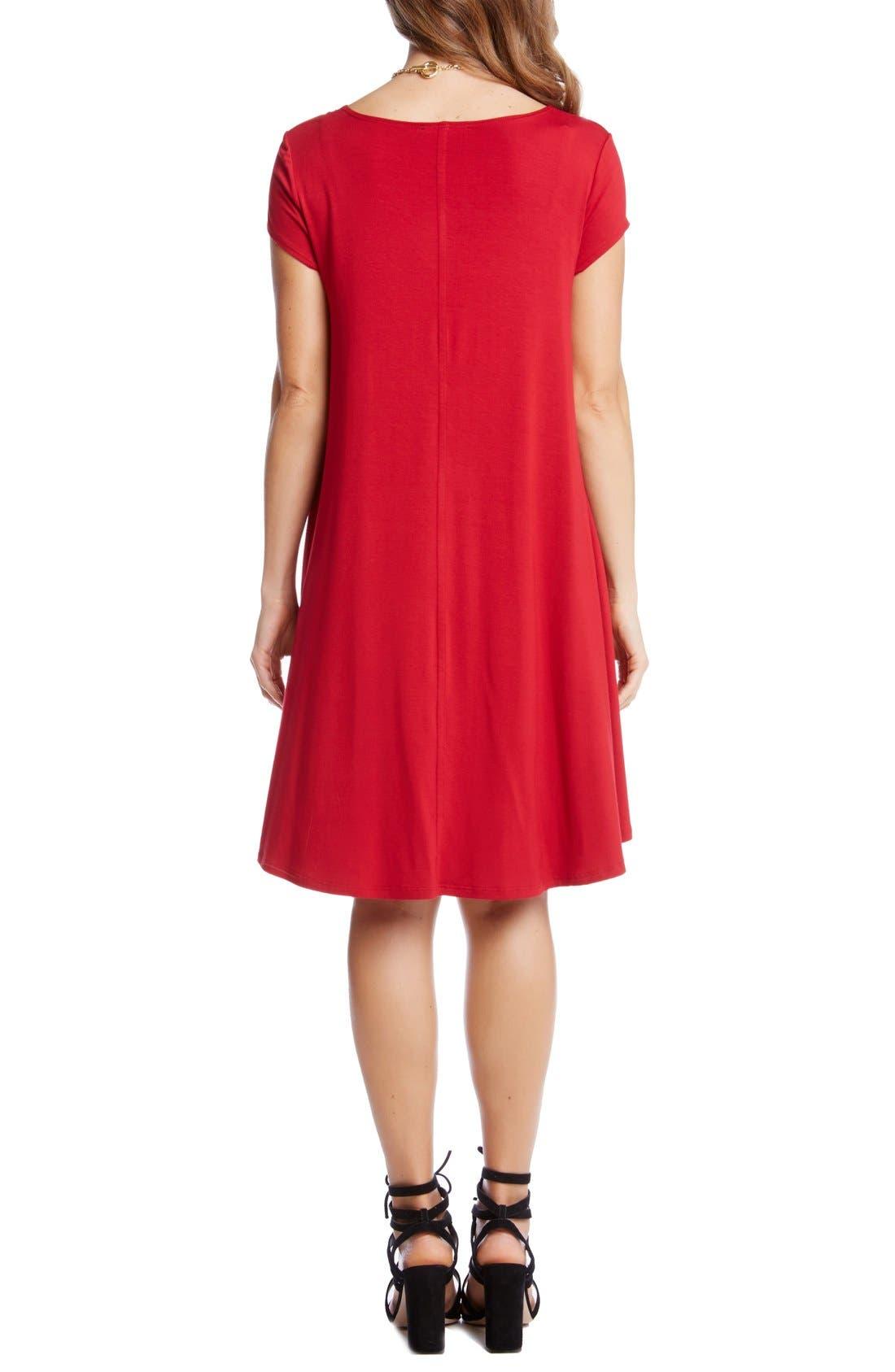 ,                             'Maggie' Cap Sleeve Trapeze Dress,                             Alternate thumbnail 24, color,                             600