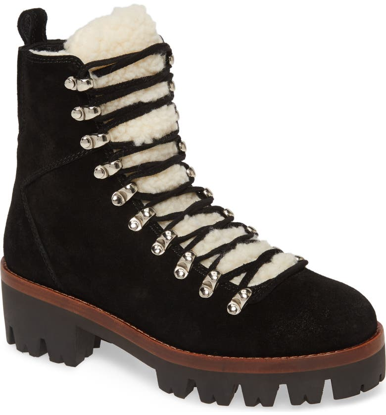 JEFFREY CAMPBELL Culvert Boot, Main, color, BLACK SUEDE IVORY