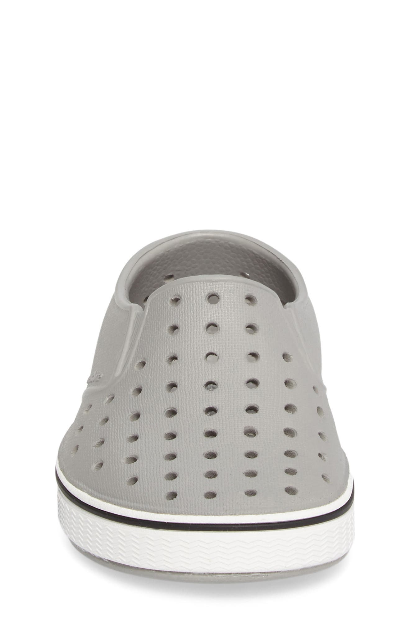 ,                             Miles Water Friendly Slip-On Vegan Sneaker,                             Alternate thumbnail 4, color,                             PIGEON GREY/ SHELL WHITE