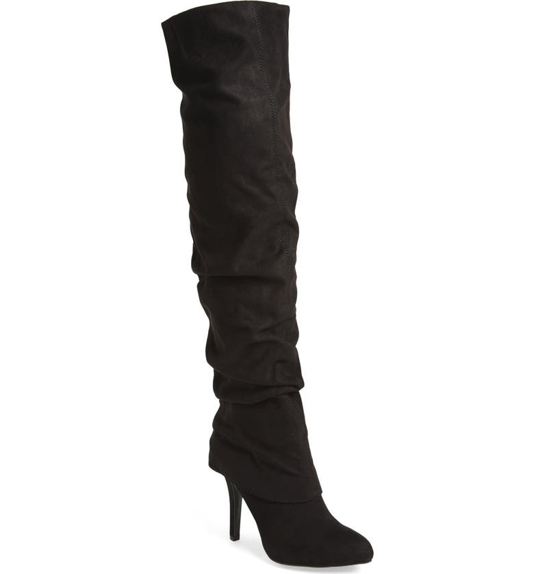 NINA 'Kymari' Over the Knee Pointy Toe Boot, Main, color, 008