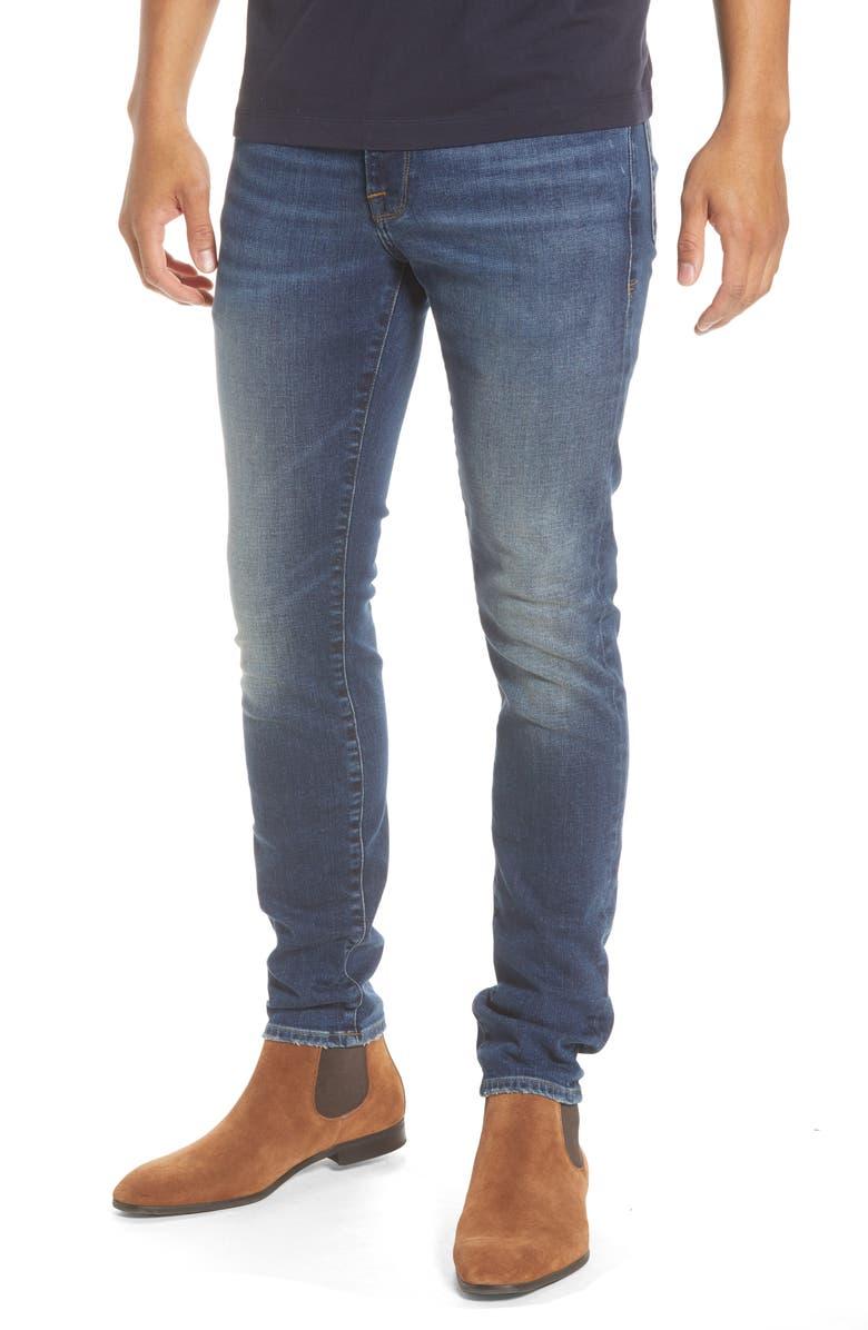 FRAME L'Homme Skinny Jeans, Main, color, 403