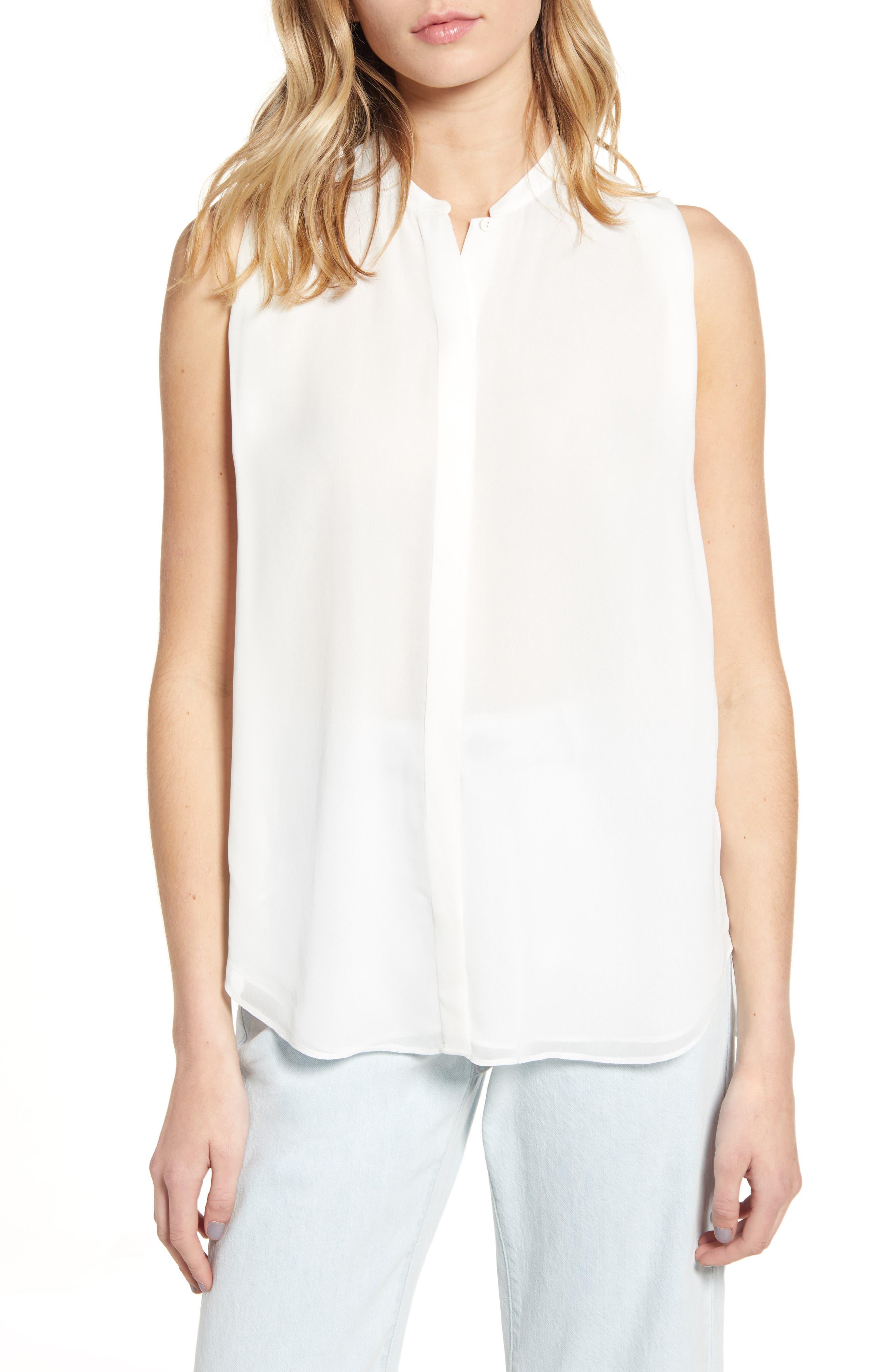 Allsaints Wing Sleeveless Shirt, White