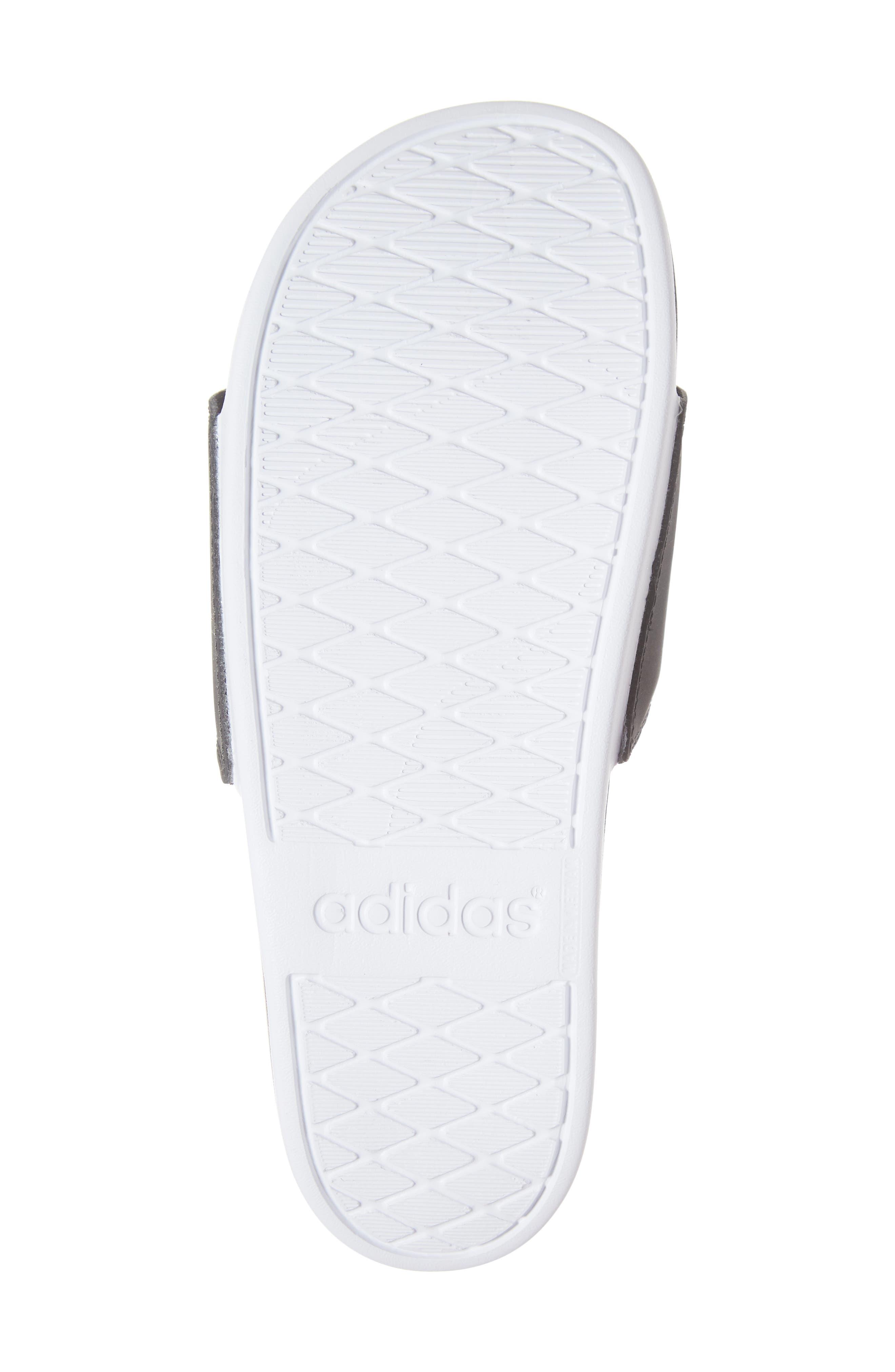 ,                             Adilette Comfort Slide Sandal,                             Alternate thumbnail 6, color,                             BLACK/ BLACK/ WHITE