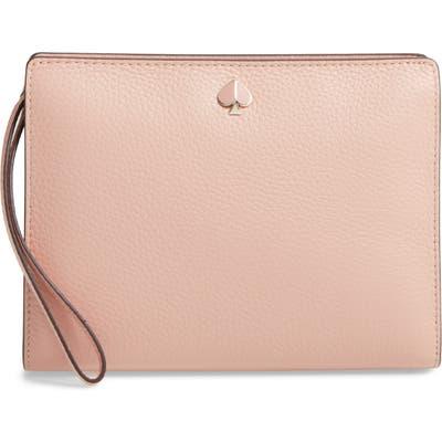 Kate Spade New York Medium Polly Leather Wristlet - Pink