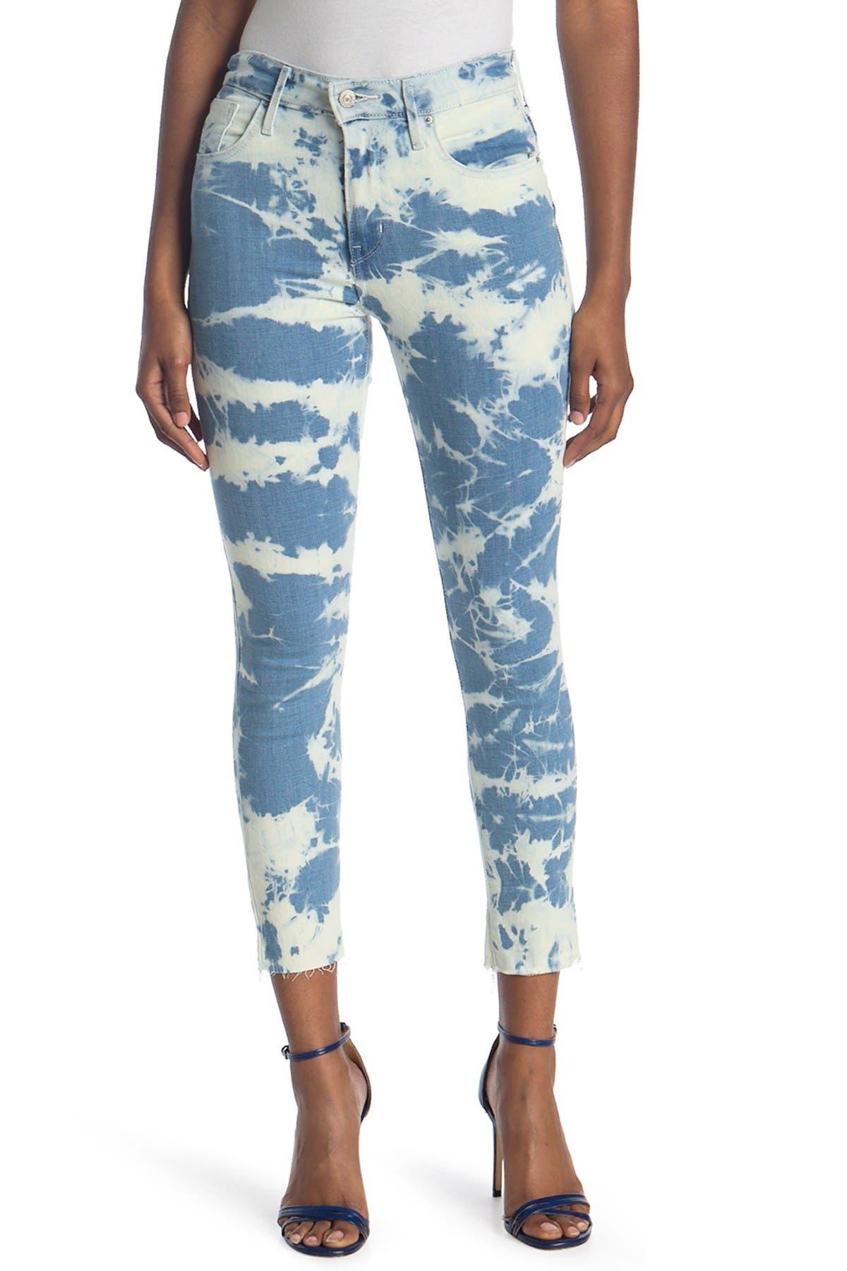 Image of Levi's 721 Acid Wash High Waisted Skinny Jeans