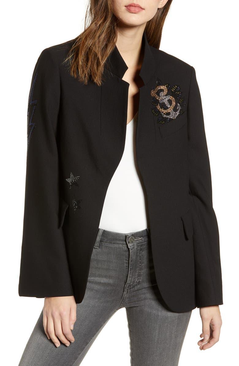ZADIG & VOLTAIRE Embellished Jacket, Main, color, 001