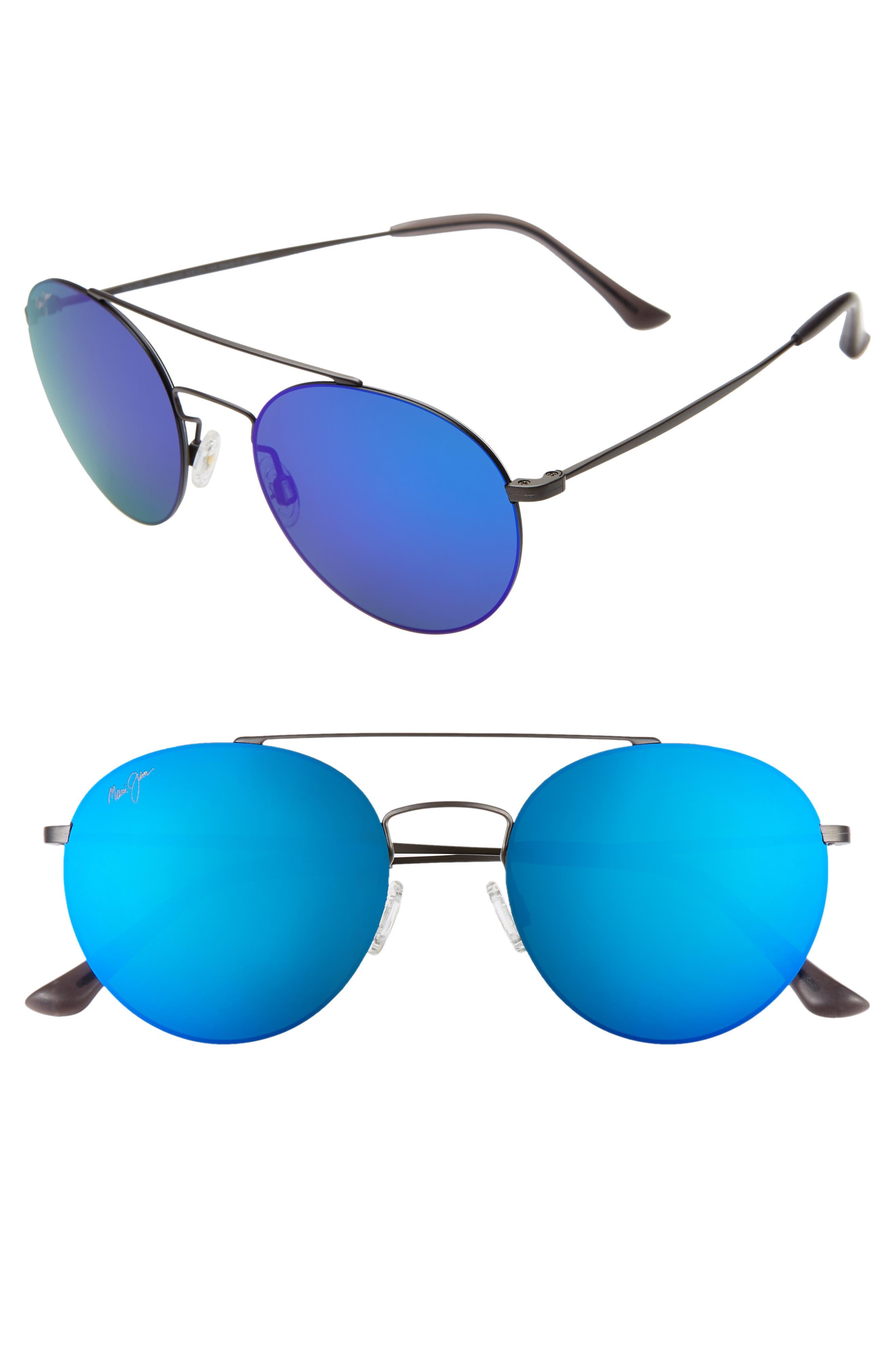 Pele's Hair 53mm Polarizedplus2 Round Flat Front Sunglasses