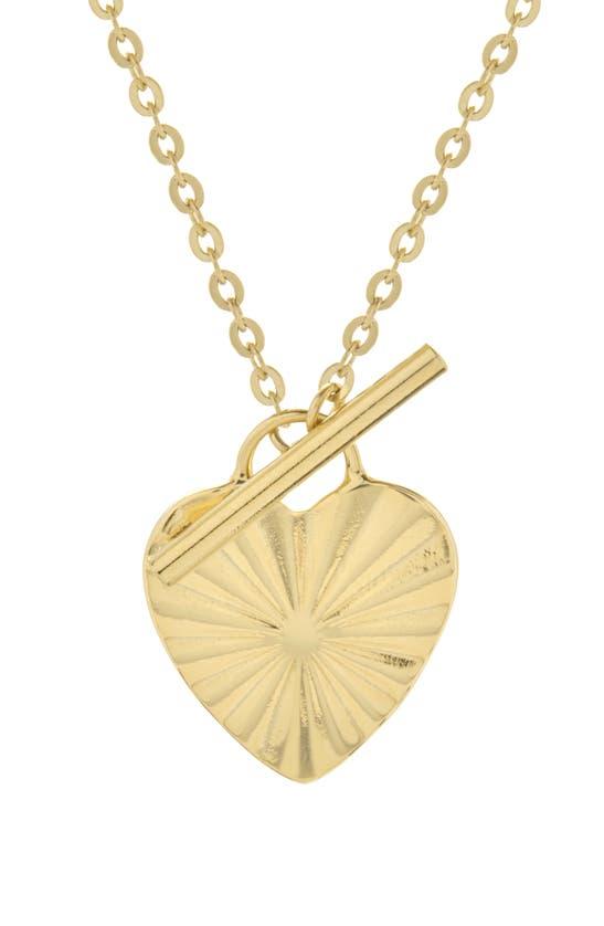 Brook & York Celeste Heart Toggle Pendant Necklace In Gold