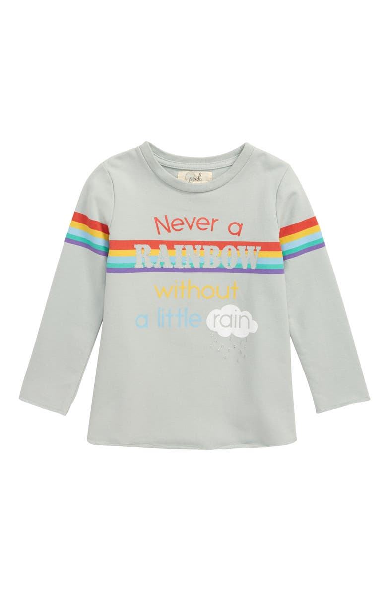 PEEK AREN'T YOU CURIOUS Rainbow Sweatshirt, Main, color, BLUE