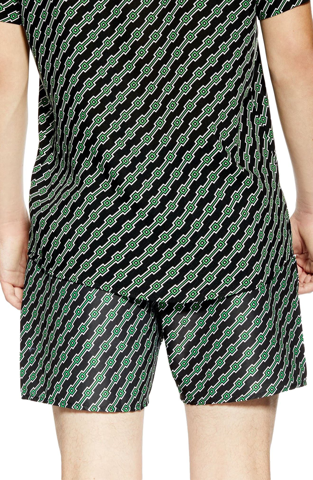 ,                             Geo Print Co-Ord Swim Trunks,                             Alternate thumbnail 2, color,                             BLACK MULTI