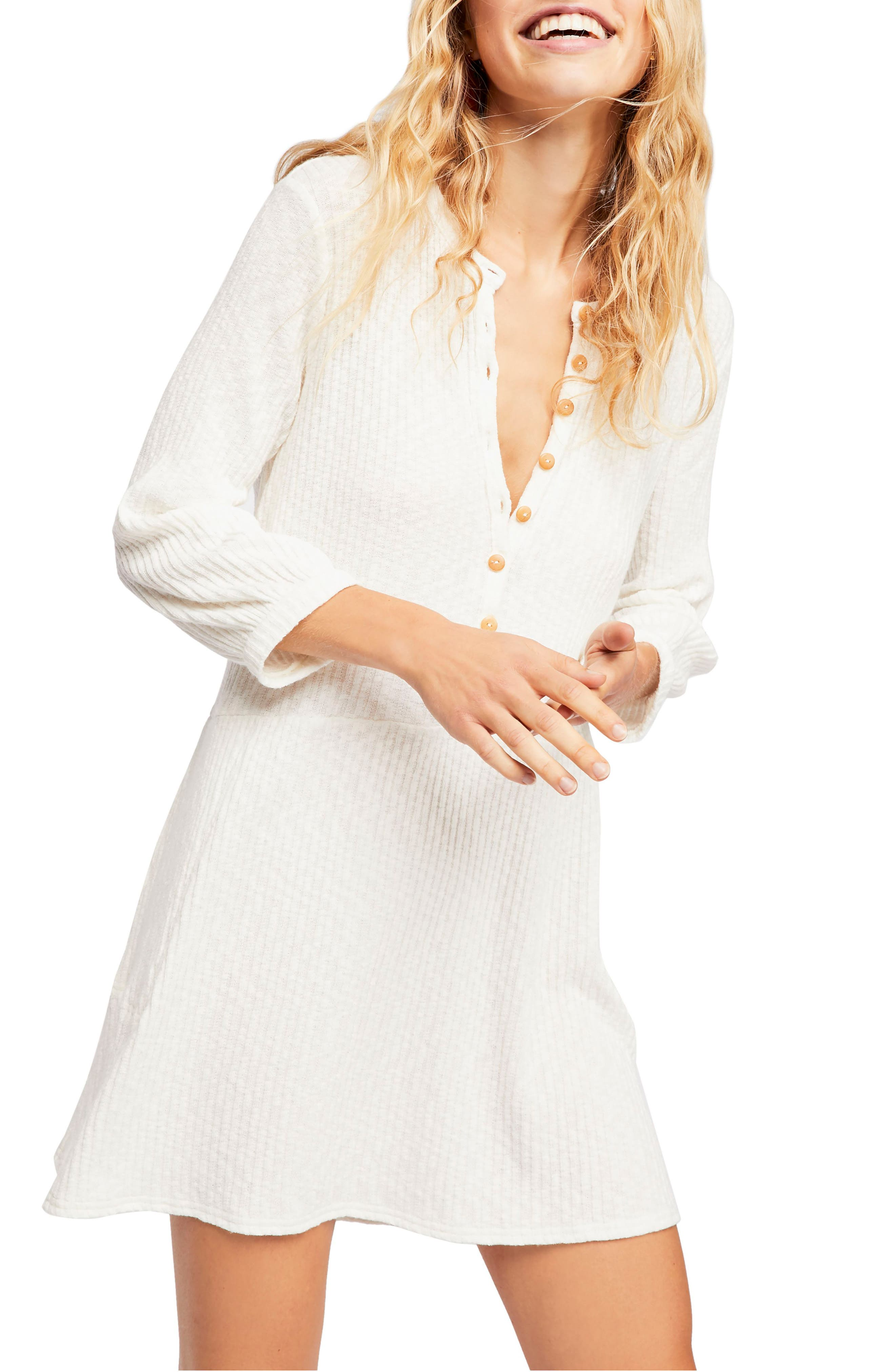 Endless Summer By Free People Blossom Stretch Cotton Dress, White