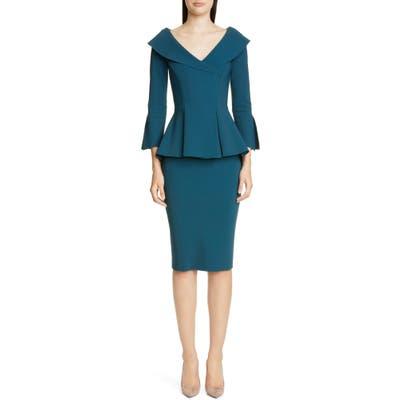 Chiara Boni La Petite Robe Zoya Peplum Cocktail Dress, US / 40 IT - Green