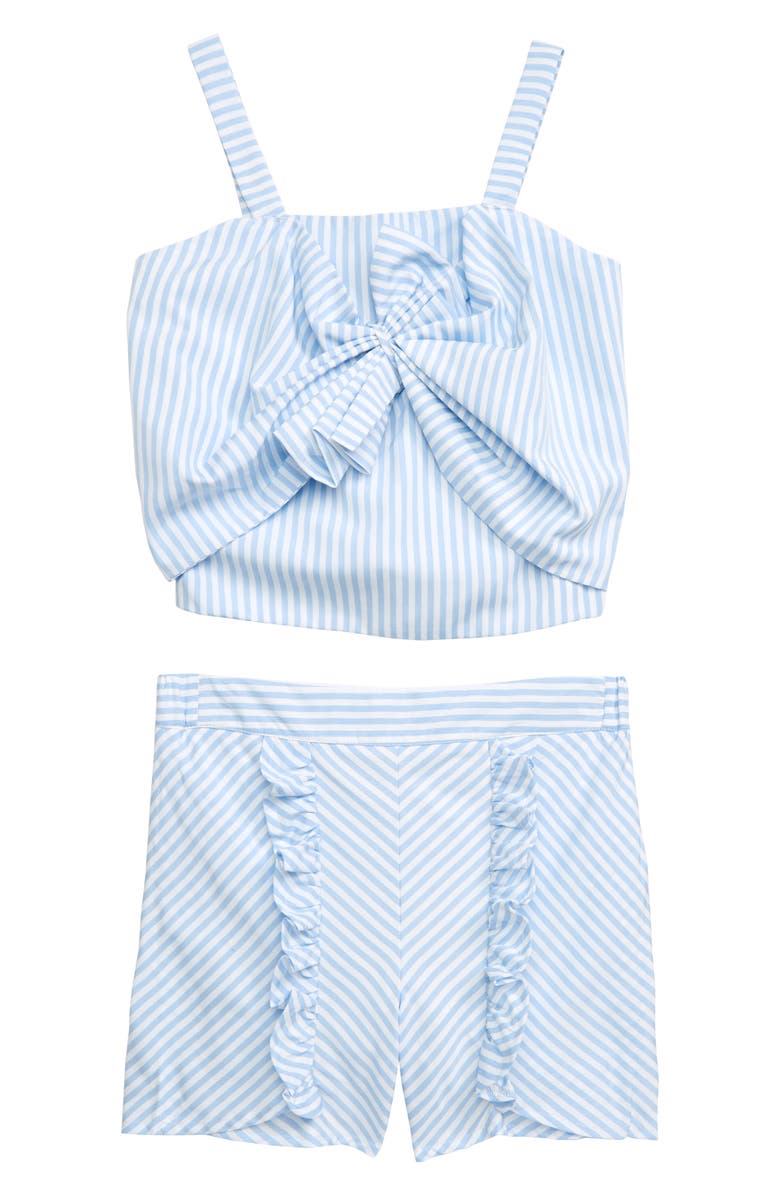 HABITUAL Tamika Stripe Set, Main, color, LIGHT BLUE