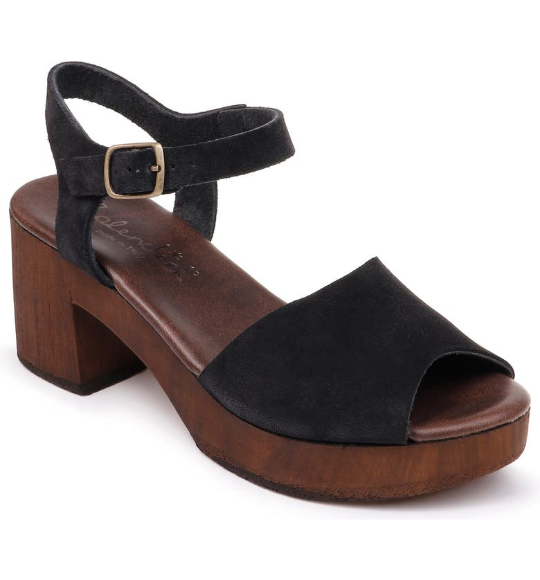 SPLENDID Hoover Quarter Strap Sandal, Main, color, BLACK SUEDE