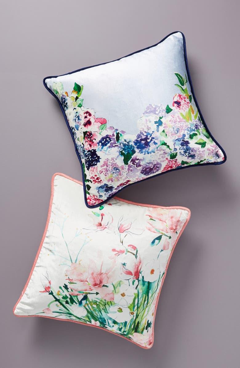 ANTHROPOLOGIE Sarah Hackinson Accent Pillow, Main, color, BLUE