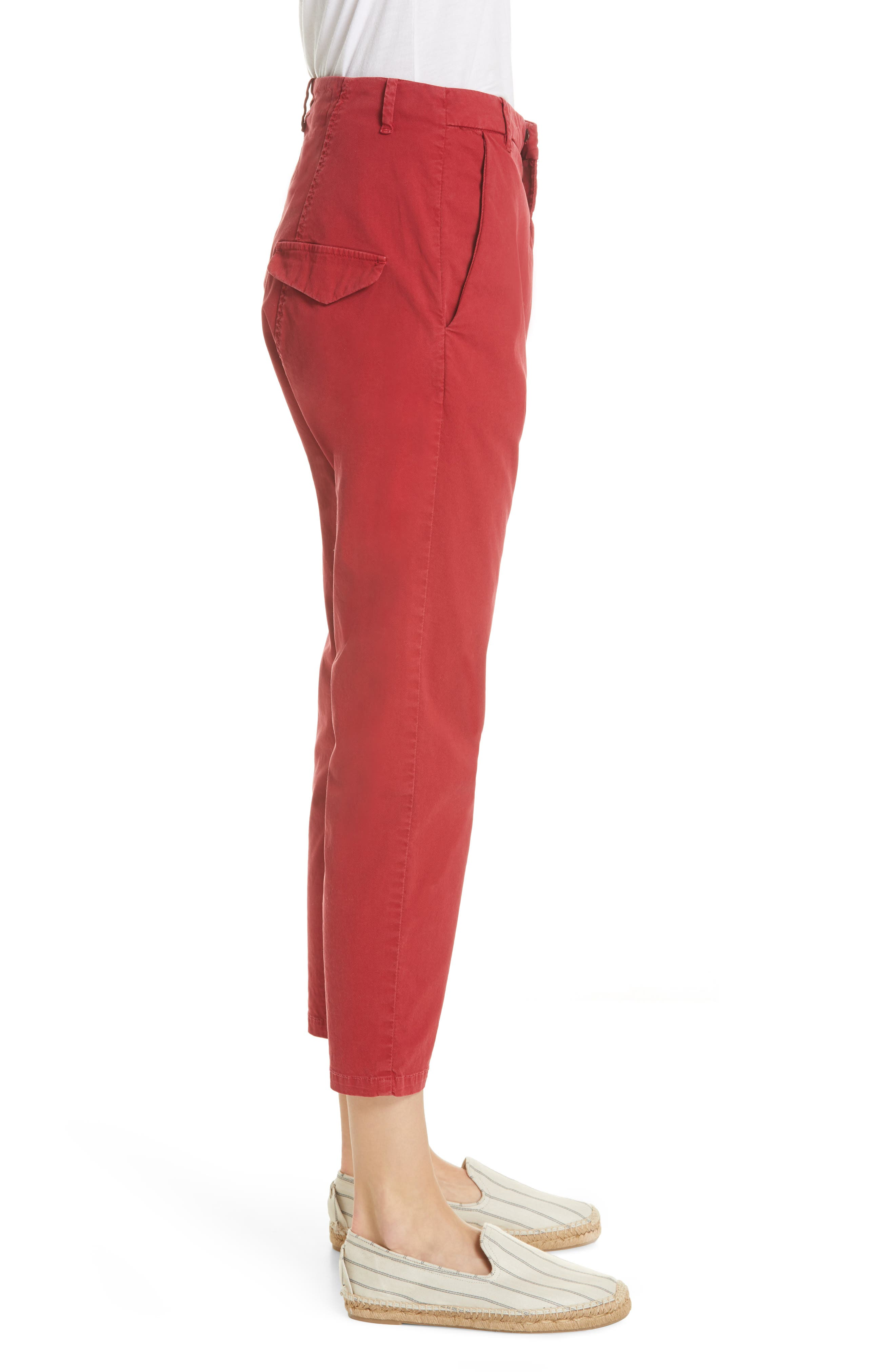 ,                             Paris Pants,                             Alternate thumbnail 4, color,                             SUNKISSED RED