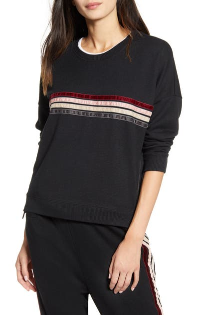 Rails T-shirts MARLO LEOPARD PRINT SIDE ZIP SWEATSHIRT