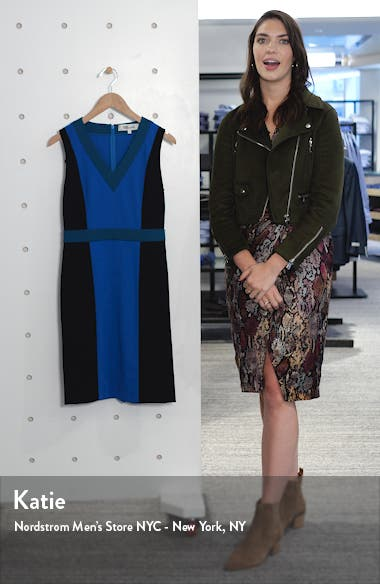 Arbor Colorblock Sheath Dress, sales video thumbnail